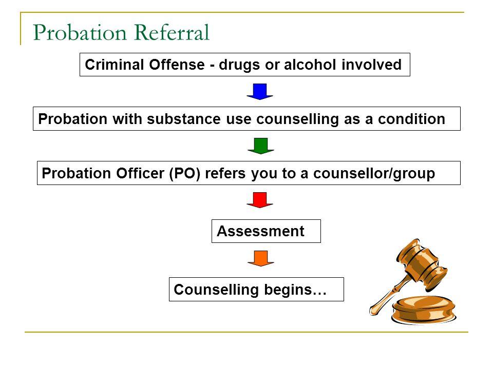 Probation Referral Criminal Offense - drugs or alcohol involved