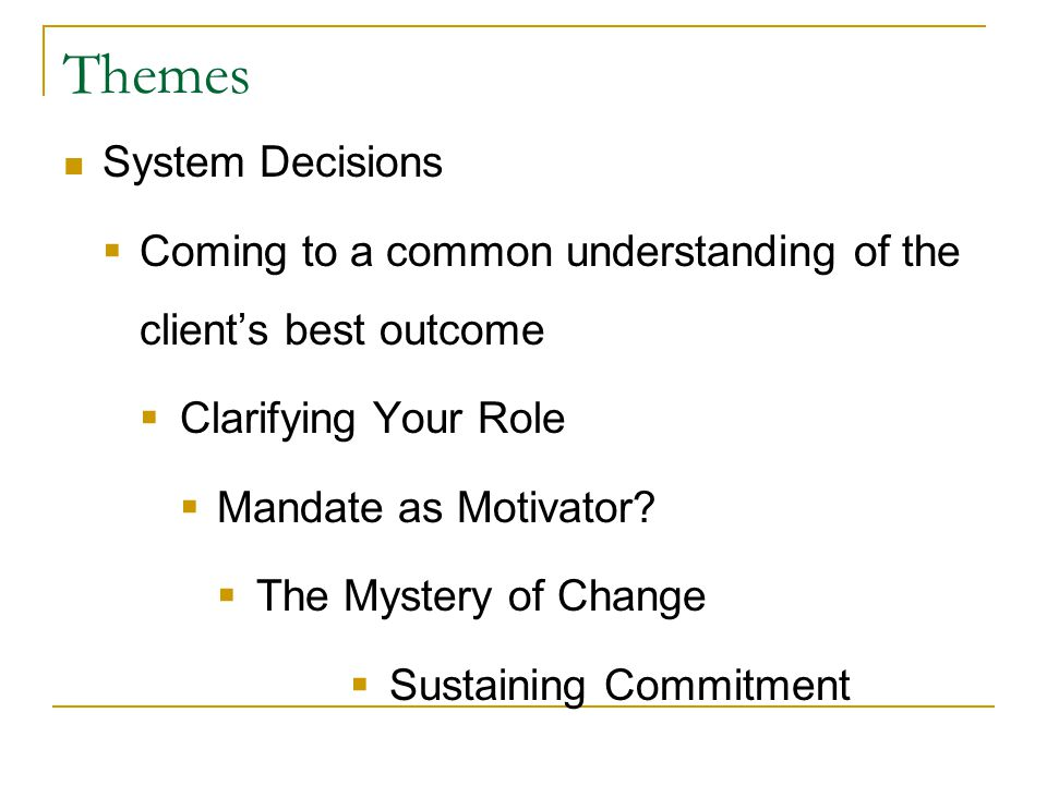 Sustaining Commitment