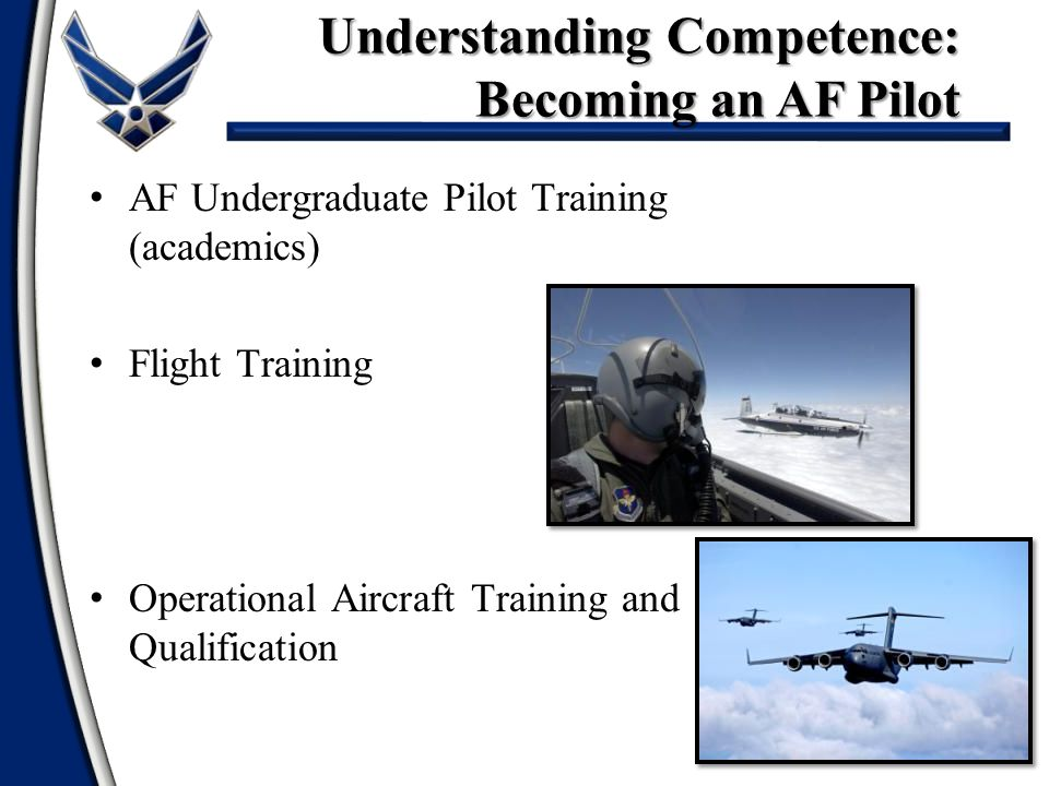 Understanding Competence: Becoming an AF Pilot