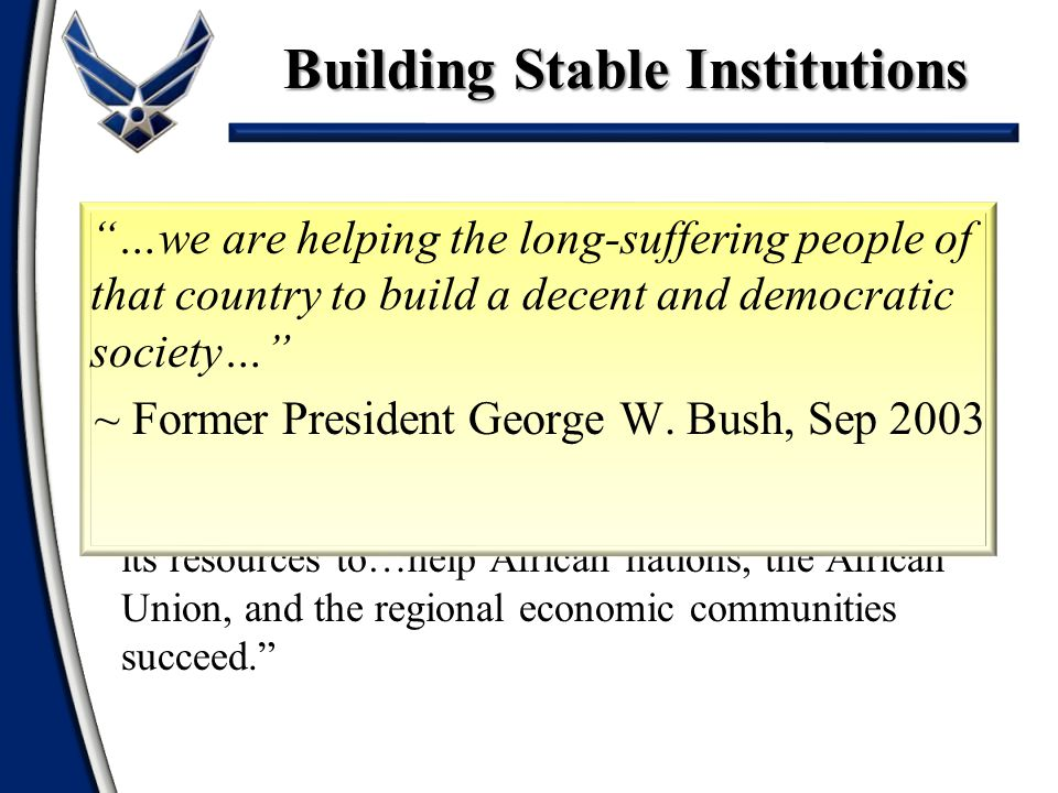 Building Stable Institutions