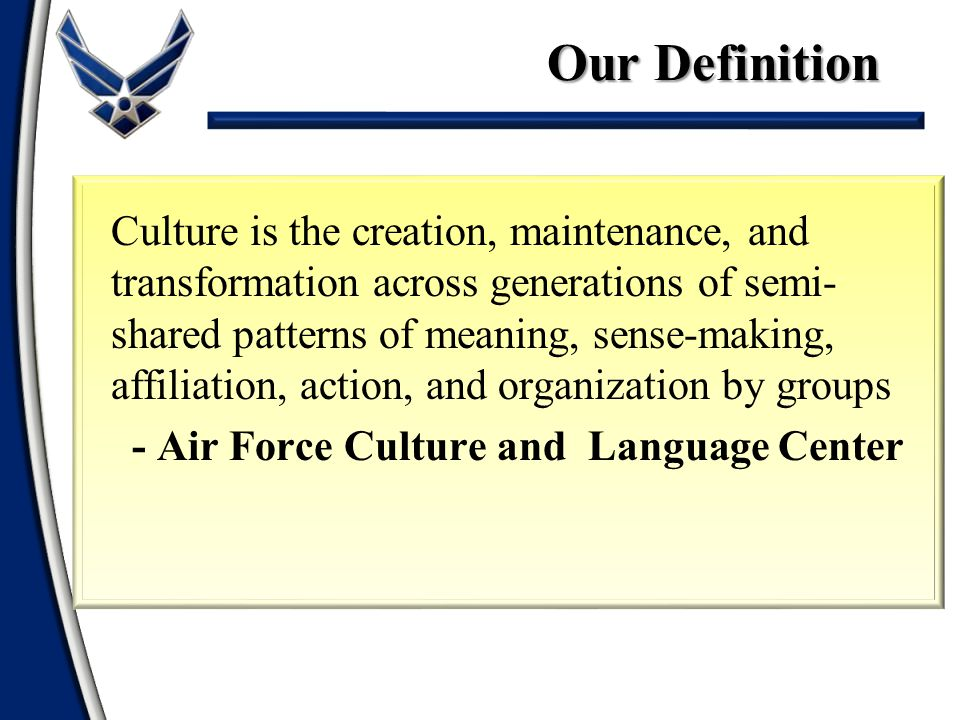 Our Definition