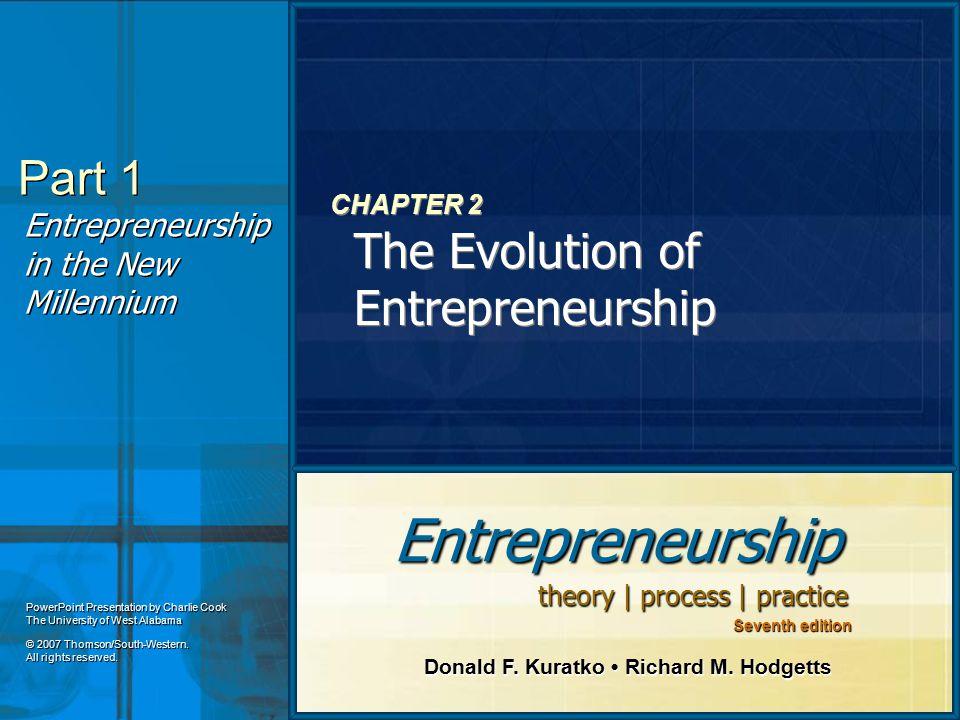 CHAPTER 2 The Evolution of Entrepreneurship