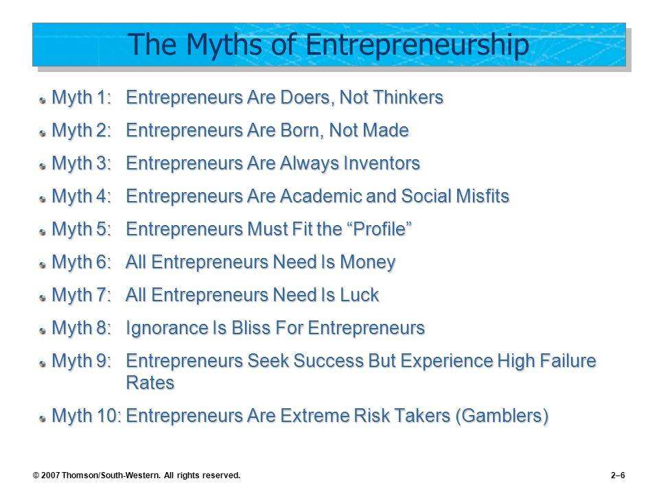 The Myths of Entrepreneurship