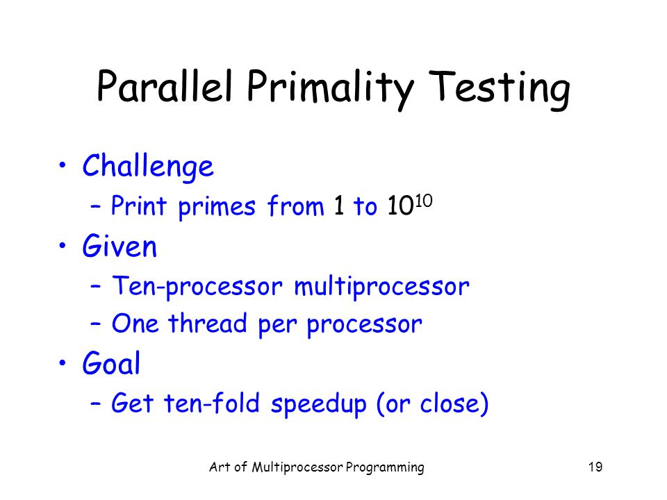 Parallel Primality Testing