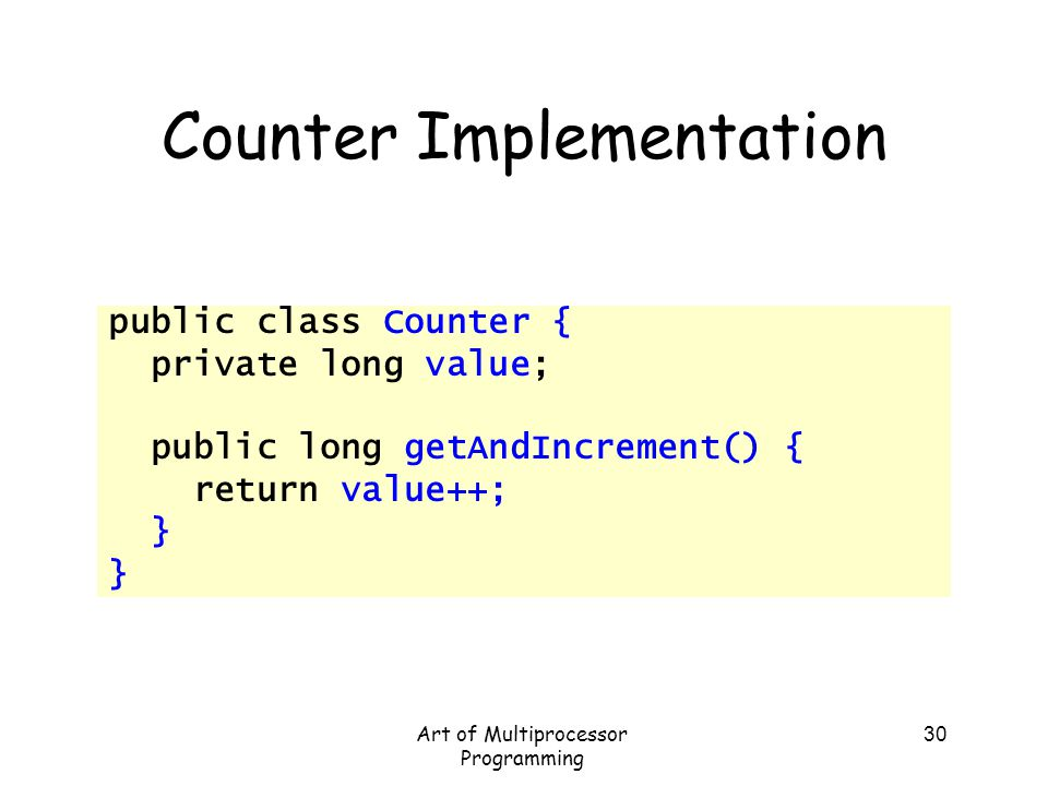 Counter Implementation