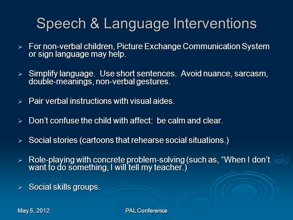 Speech & Language Interventions