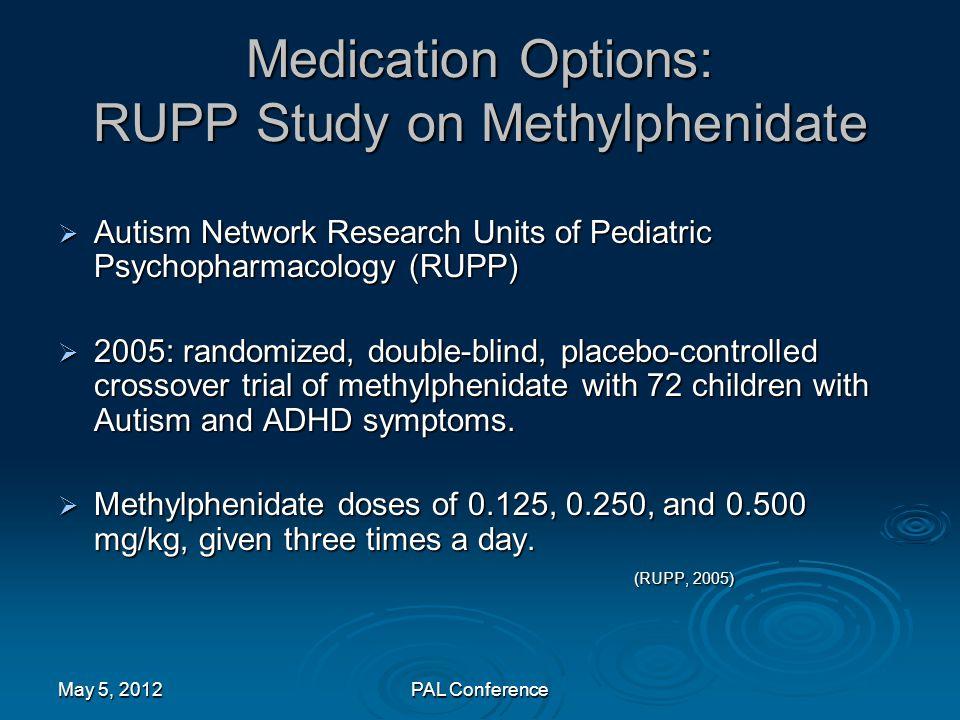 Medication Options: RUPP Study on Methylphenidate