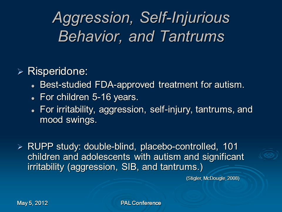 Aggression, Self-Injurious Behavior, and Tantrums