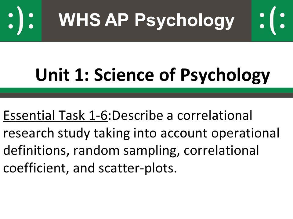 Unit 1: Science of Psychology
