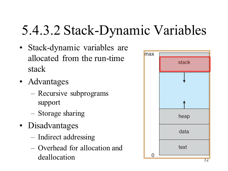 5.4.3.2 Stack-Dynamic Variables
