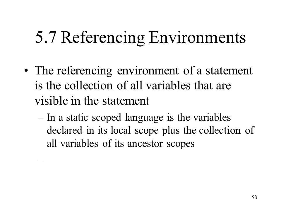 5.7 Referencing Environments