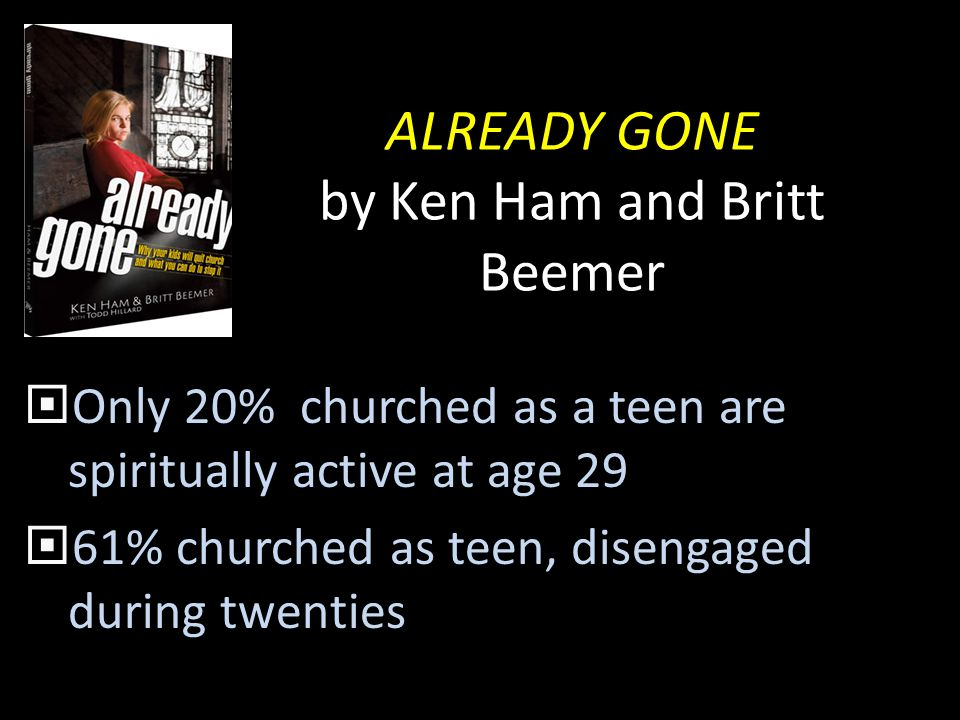 ALREADY GONE by Ken Ham and Britt Beemer