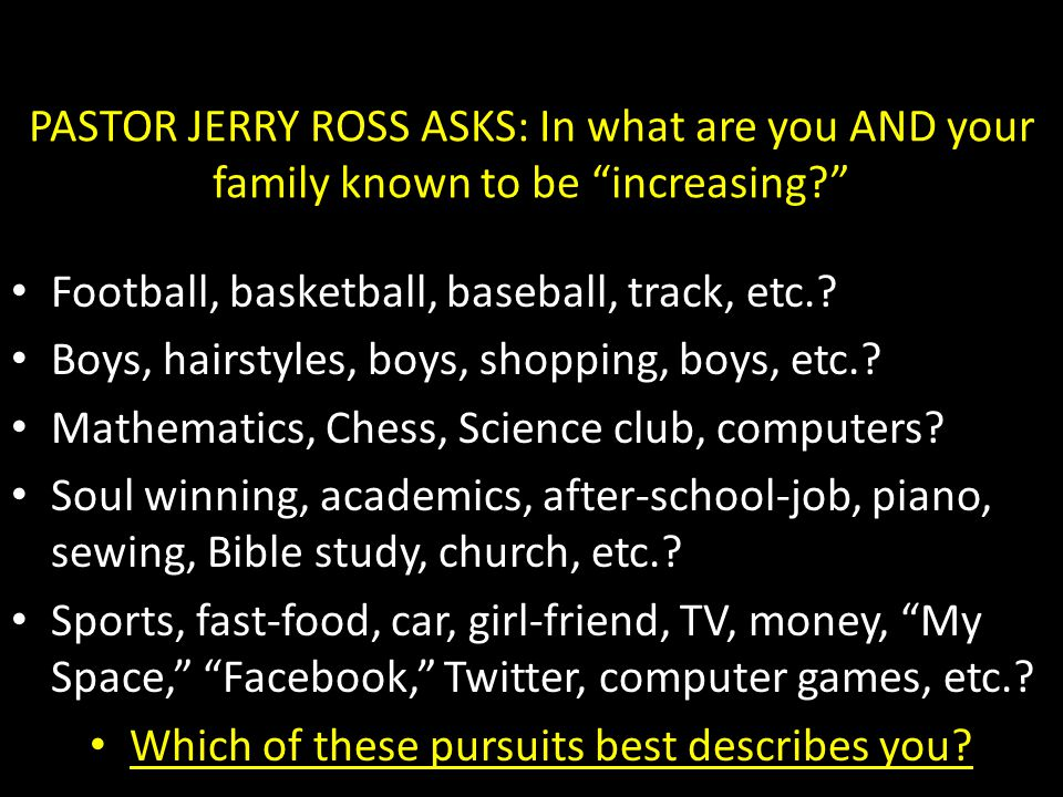 Which of these pursuits best describes you