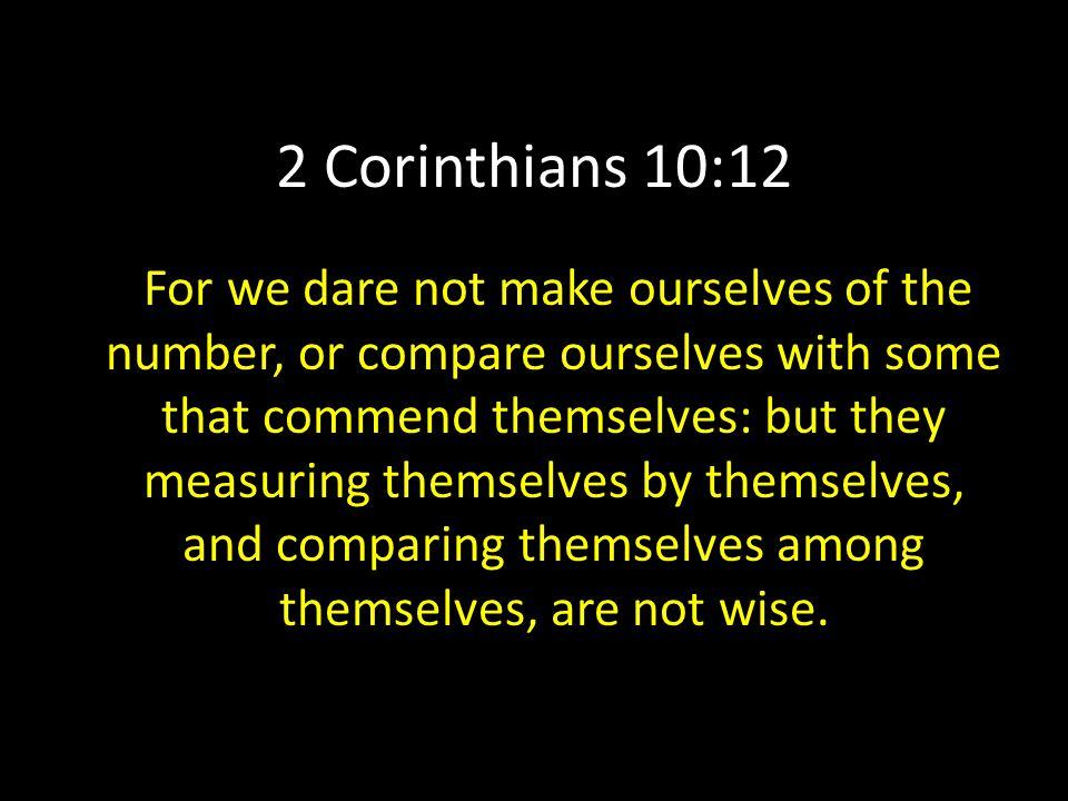 2 Corinthians 10:12