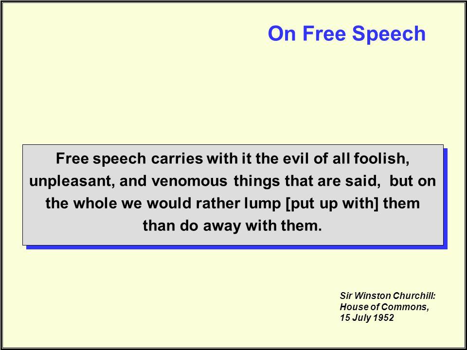 On Free Speech