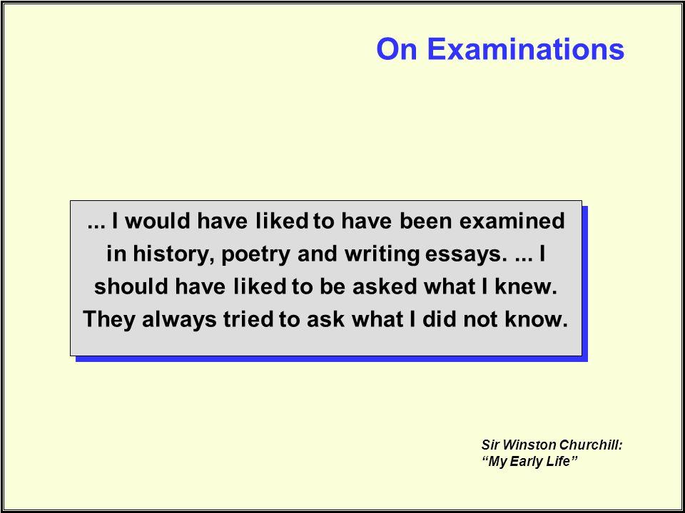 On Examinations