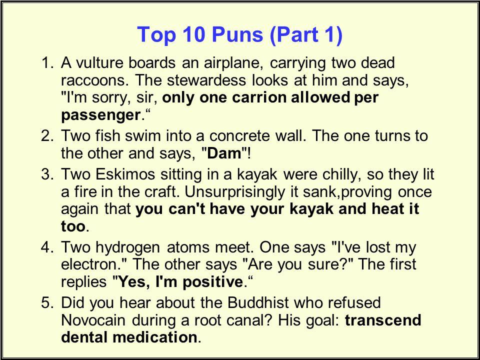 Top 10 Puns (Part 1)