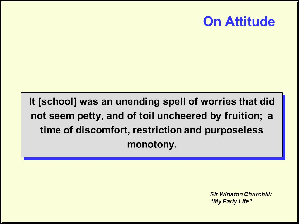 On Attitude