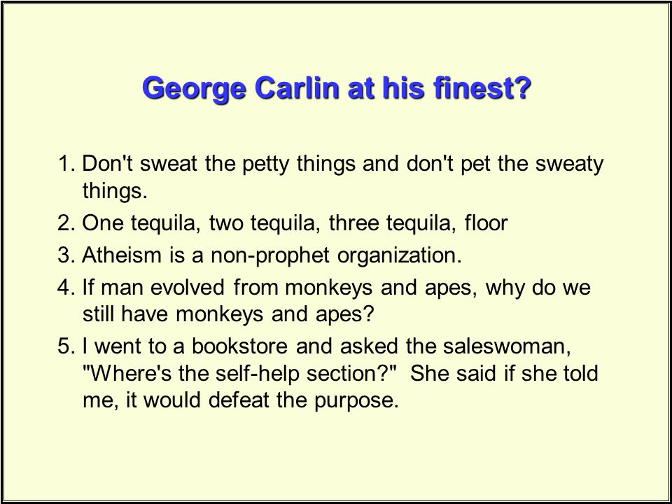 George Carlin at his finest