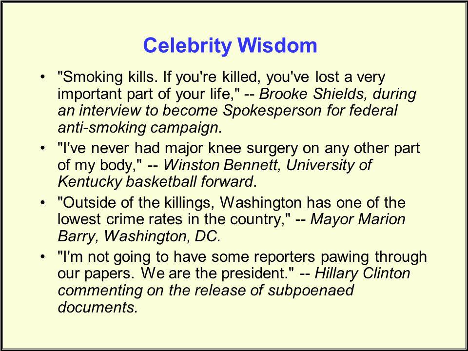 Celebrity Wisdom