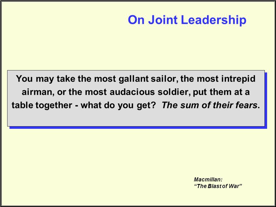 On Joint Leadership