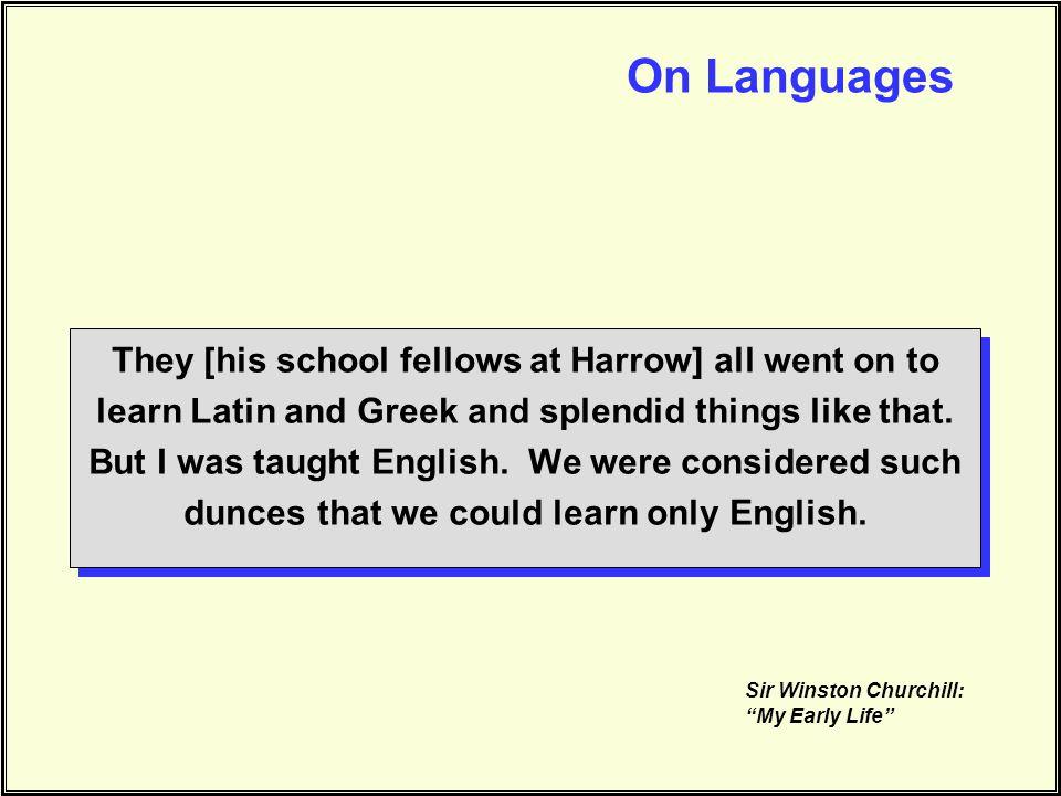 On Languages