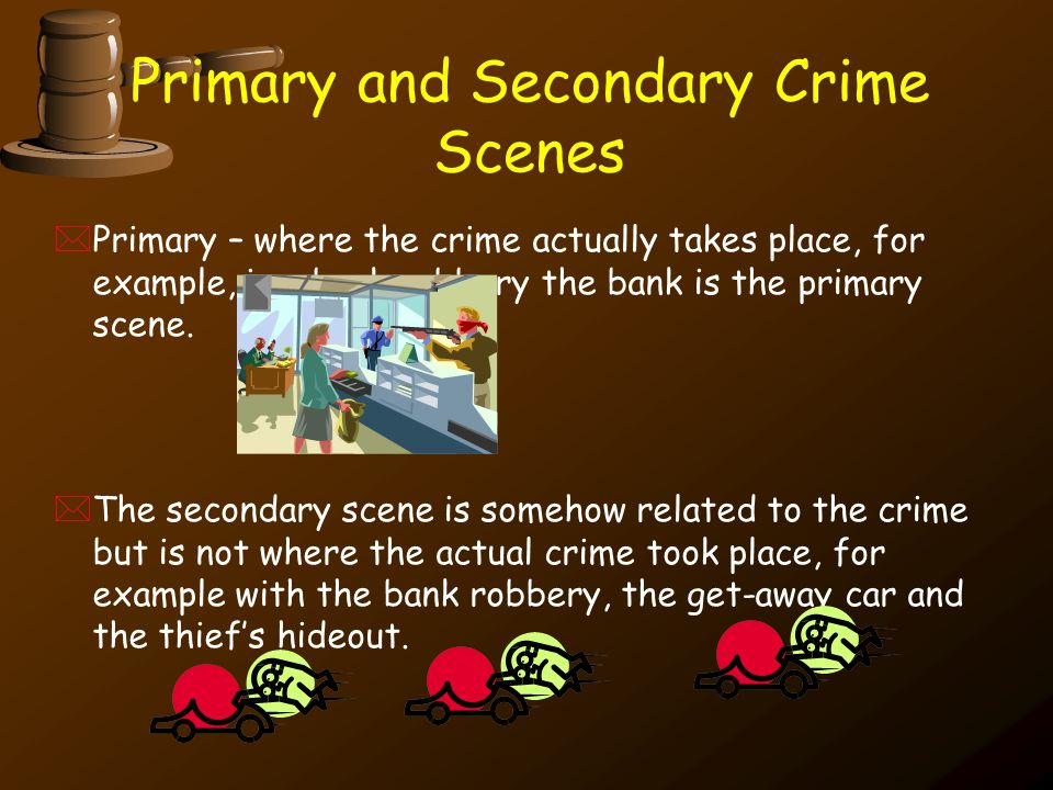 Primary and Secondary Crime Scenes