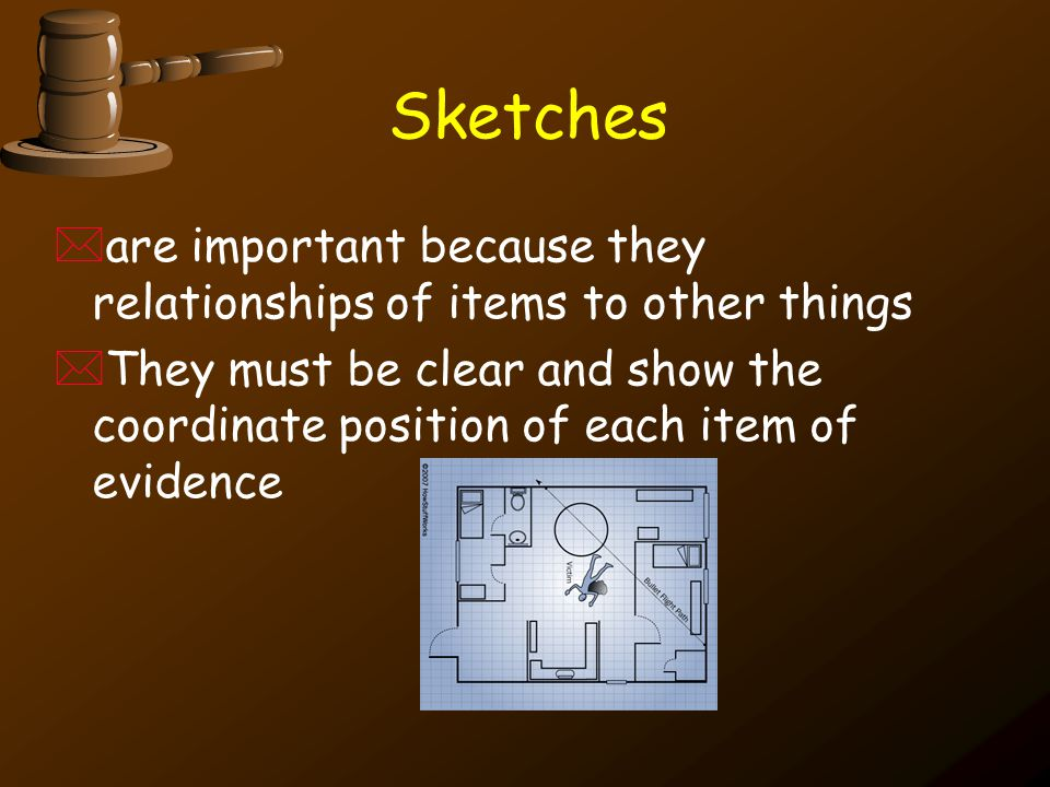 Sketches are important because they relationships of items to other things.