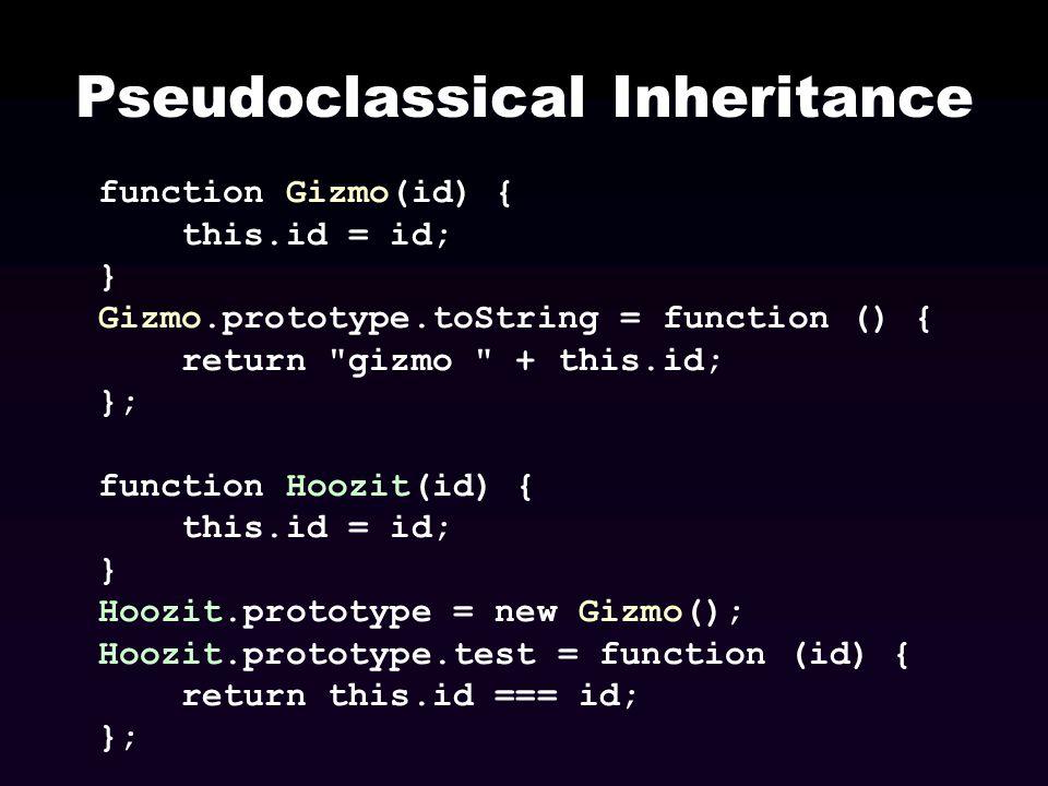 Pseudoclassical Inheritance