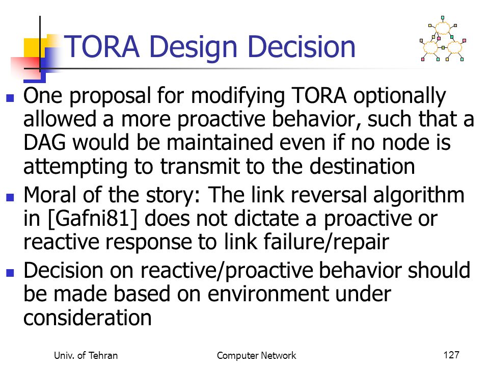 TORA Design Decision