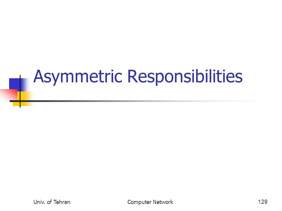 Asymmetric Responsibilities