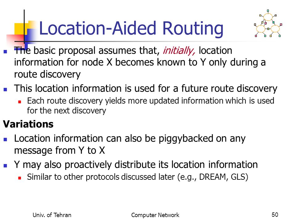 Location-Aided Routing
