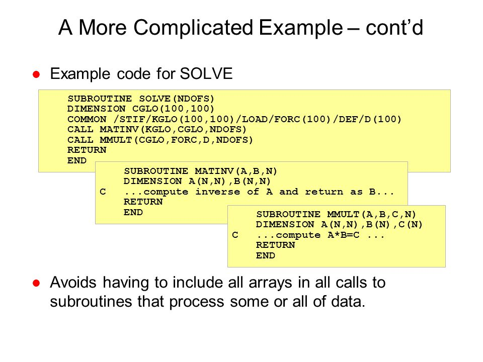 A More Complicated Example – cont'd