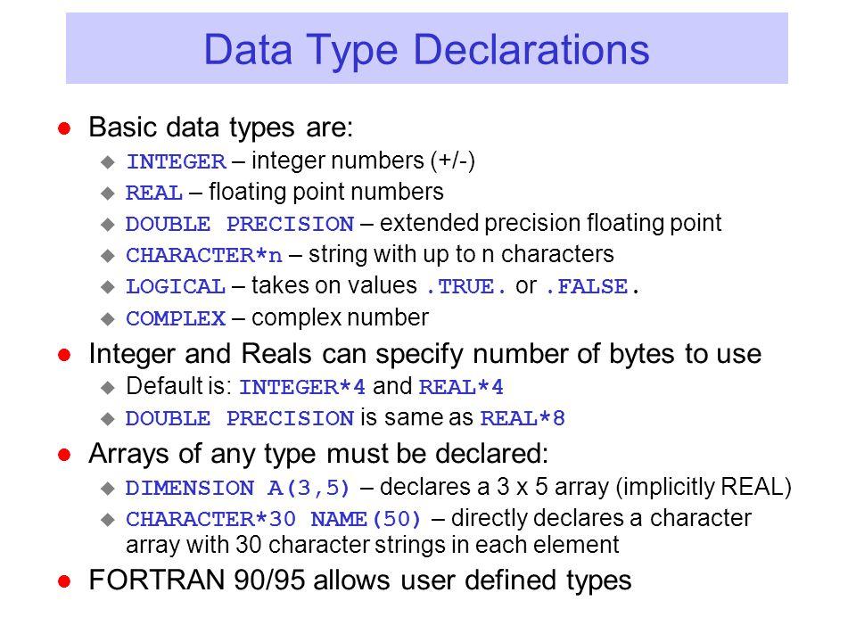 Data Type Declarations