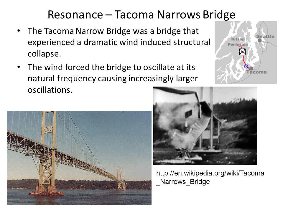 Resonance – Tacoma Narrows Bridge