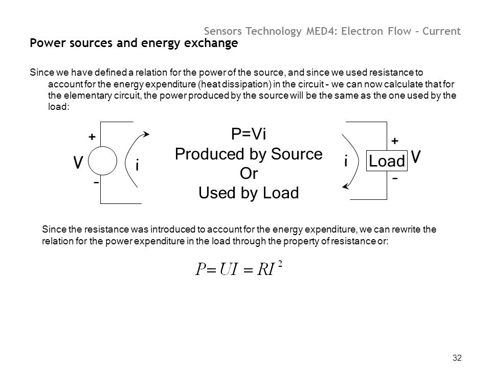 Power sources and energy exchange