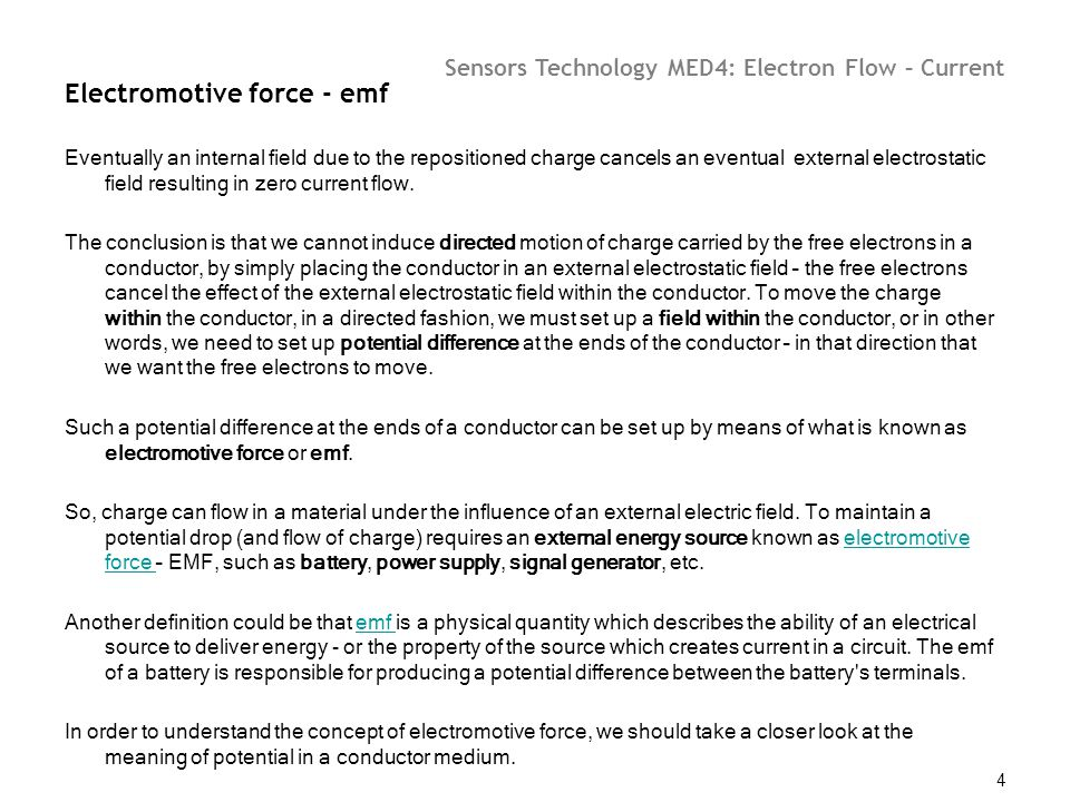 Electromotive force - emf