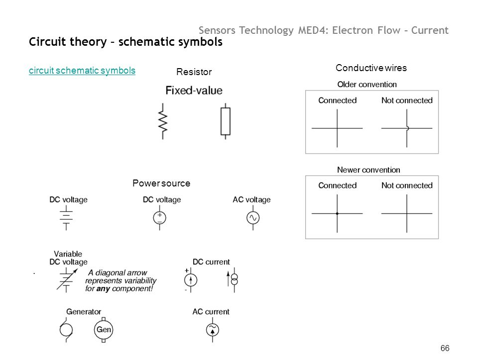 Circuit theory – schematic symbols