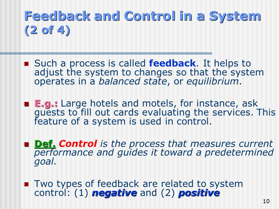 Feedback and Control in a System (2 of 4)