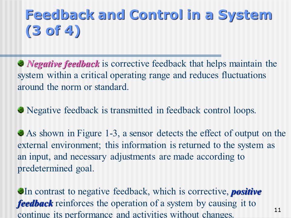 Feedback and Control in a System (3 of 4)