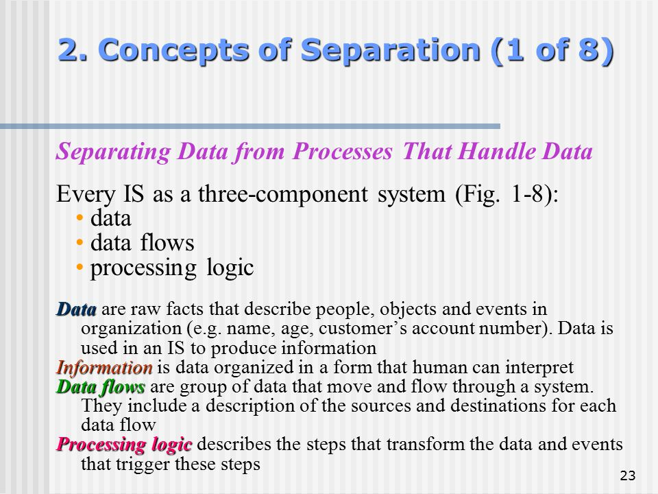 2. Concepts of Separation (1 of 8)