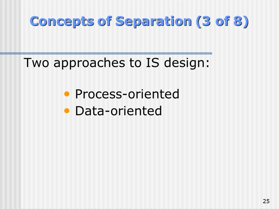 Concepts of Separation (3 of 8)