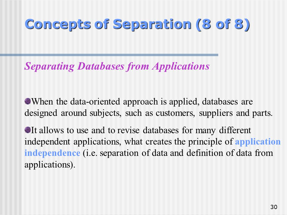 Concepts of Separation (8 of 8)