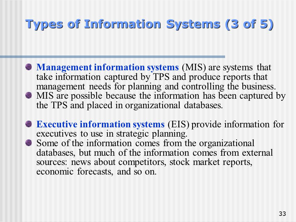 Types of Information Systems (3 of 5)
