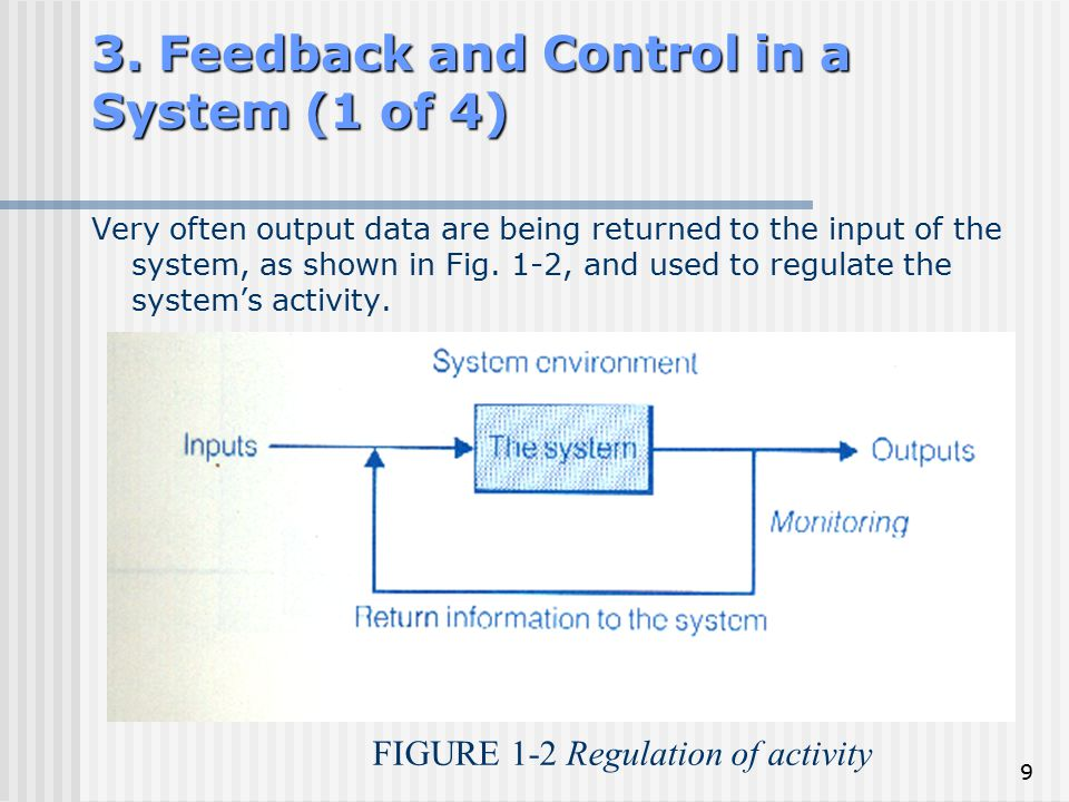 3. Feedback and Control in a System (1 of 4)