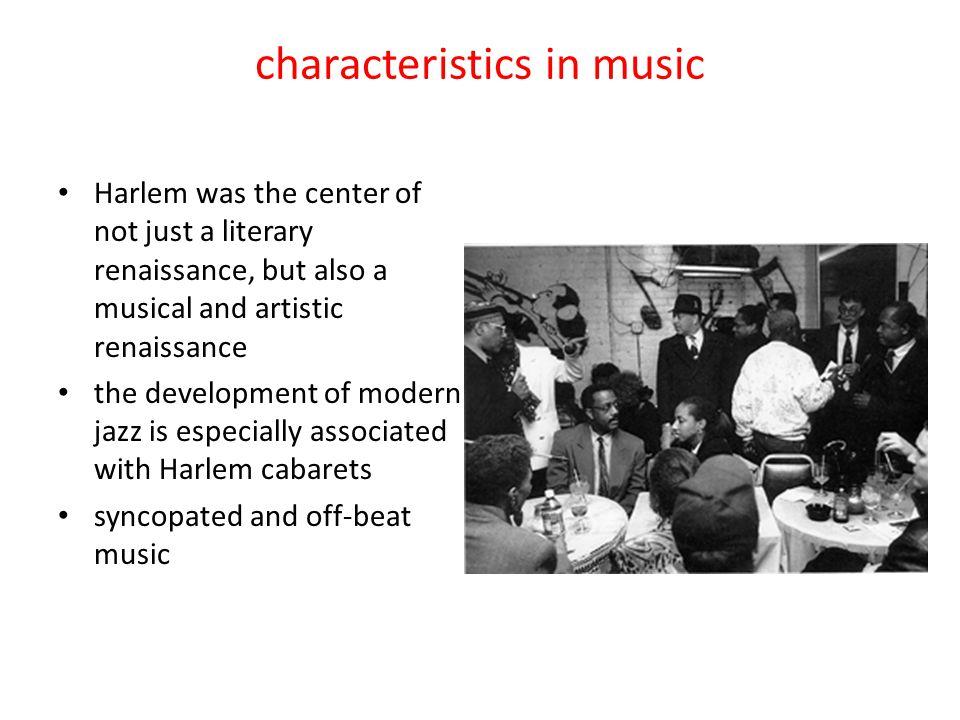 characteristics in music