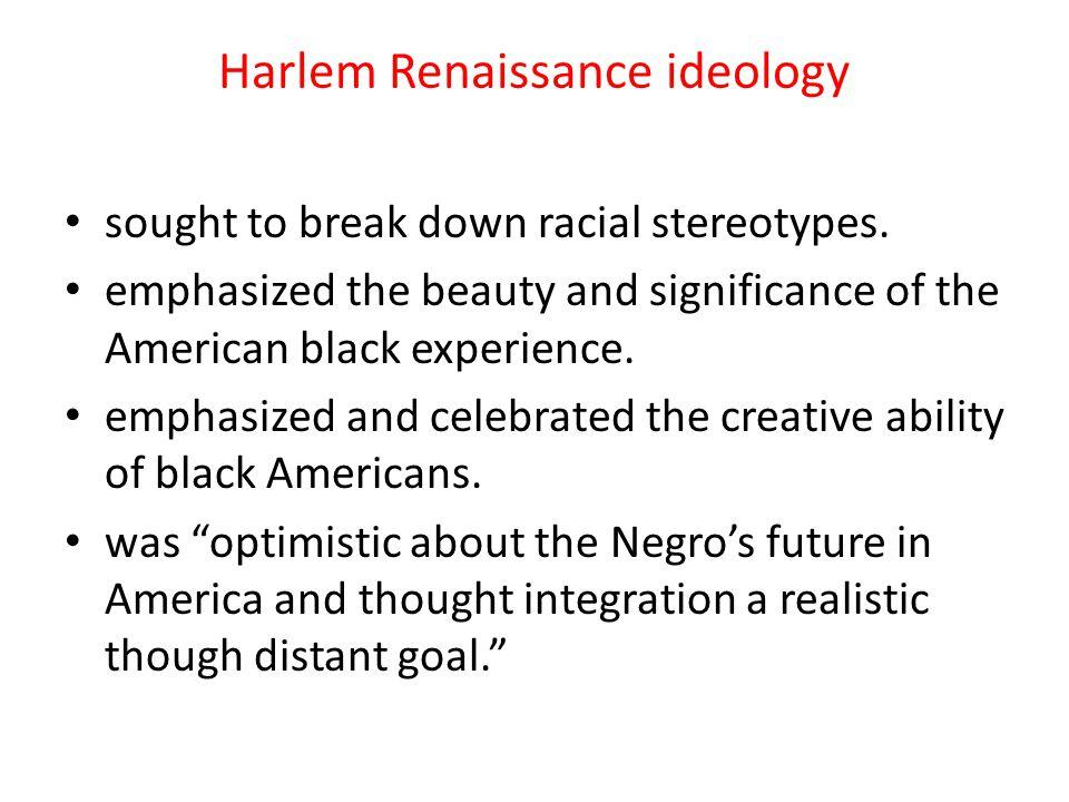 Harlem Renaissance ideology
