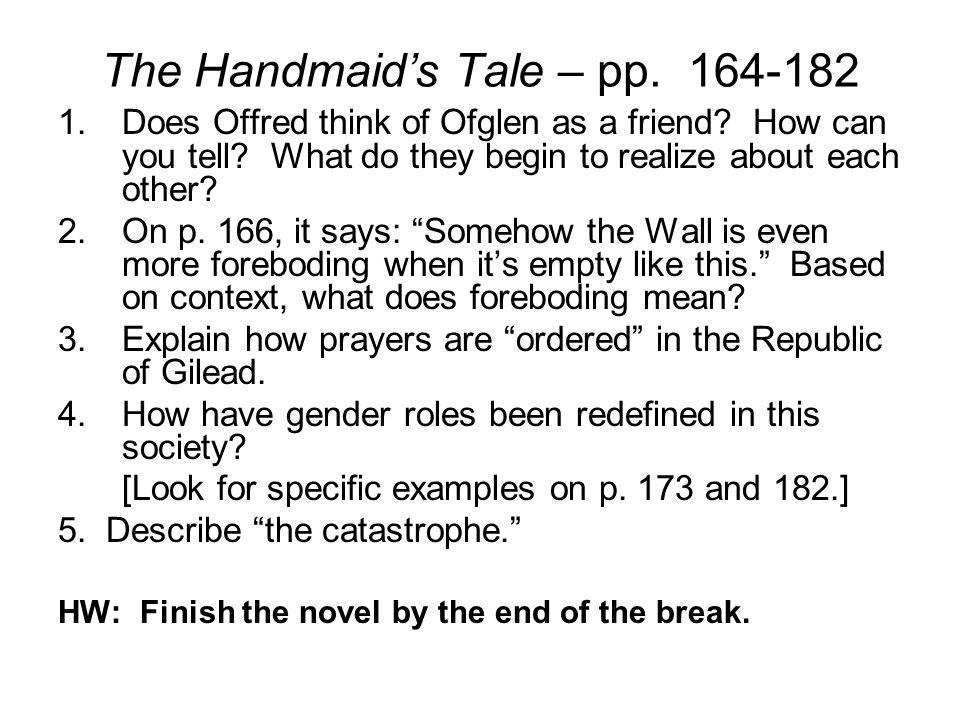 The Handmaid's Tale – pp. 164-182