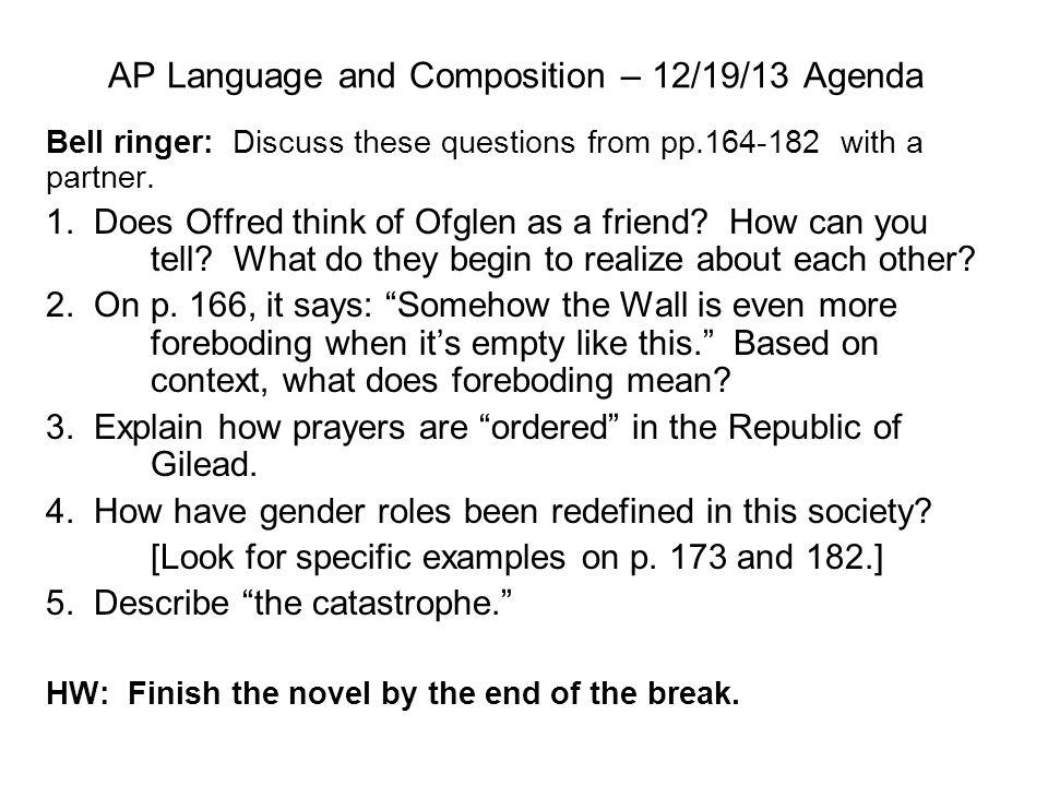 AP Language and Composition – 12/19/13 Agenda