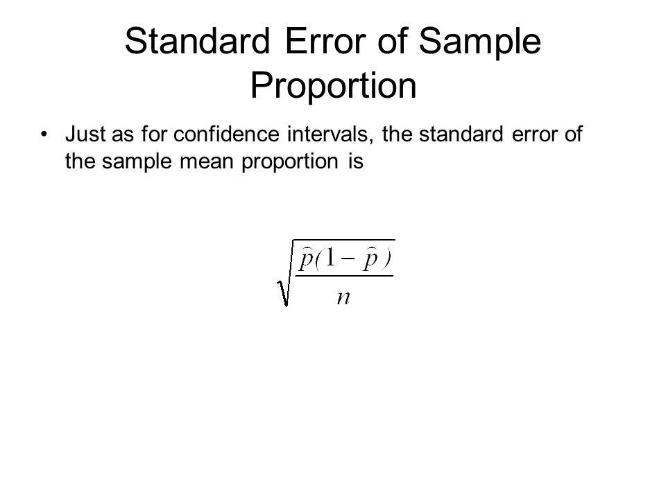 Standard Error of Sample Proportion